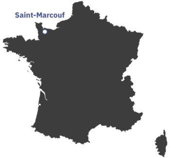 Carte de France - situation Saint-Marcouf